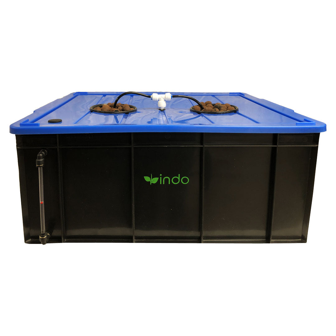 HydroBox™ Complete Kit for 2 Plants - Deep Water Culture (DWC) with Recirculating Drip System and Air Stone