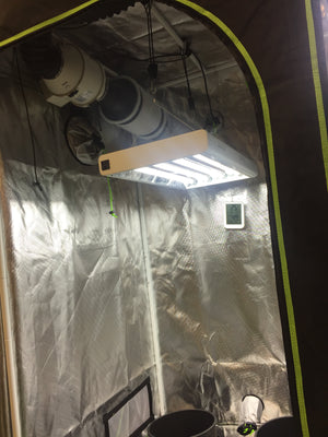 "Complete Grow Kit - 2 in 1 Veg Room - 48""x36""x72"" 1680D Tent - T5 Lights-Fan and Filter"