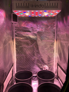 "Complete Grow Kit - 24""x24""x63"" 1680D Grow Tent-800W (200W actual) CREE Full-Spectrum COB + LED with Veg & Bloom Switch -4"" Fan and Filter"