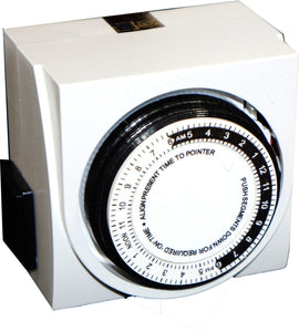 Timer - 24hr Analog 2 outet dial timer - UL certifed