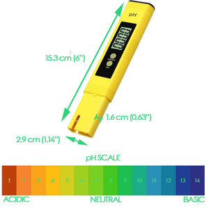 Digital pH Meter with ATC for Hydroponics, Drinking Water, Pools, and Aquariums 0.01 pH resolution
