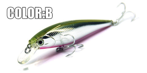 action minnow 78mm/9.2g, dive 0.8-1.2m suspending bait , 5 colors to choose from