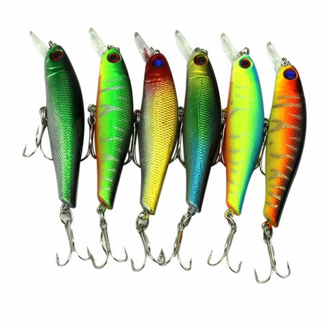6pcs/set  Fishing Lures w/ 3D  Eyes