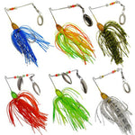 6pc/set Fishing lure artificial bait Hard Spinner Lure Spinnerbait