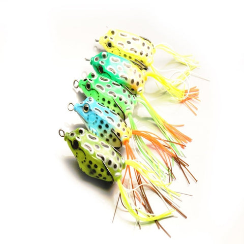 5 pcs Lure bait double hook black ray frog