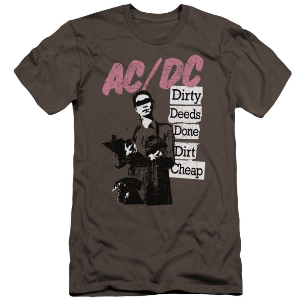 Acdc - Dirty Deeds Premium Canvas Adult Slim Fit 30/1