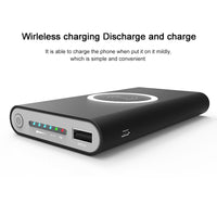 20000mah QI Wireless 2USB Ports Charger 5W Pad Power Bank Built-in Wireless Quick charge Charging Universal for iPhone X 8plus