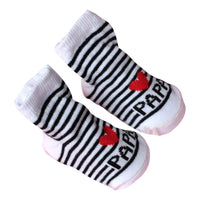 0-6M Baby SOCKS  Infant Boy Girl Slip-resistant Floor Socks Love Mama Papa Letter Socks Drop shipping