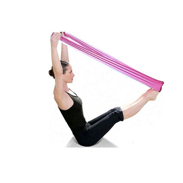 2017 New Pilates Yoga Resistance Bands Aerobics Stretch Tensile Elastic Band yoga banda de resistencia