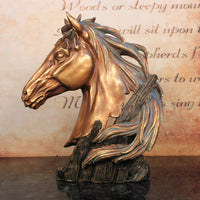 2016 Direct Selling New Retro Furnishings Decoration Home Furnishing Resin Ma Office Desktop Decor Zhaocai Wholesale  Horse