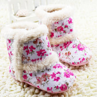 2017 Real Sale Solid Cotton Fabric Buckle Strap Buckle All Seasons Cotton Baby Snow Boots Soft Crib Shoes Toddler Girls Girl
