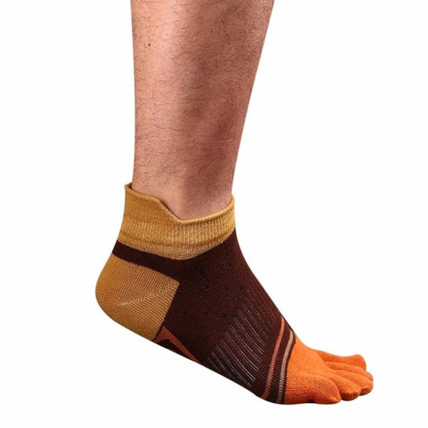 2017 Men's Five Toe Ankle Grip Short Dance Pilates Socks Non Slip Toe Socks Anti-sweat Five Finger Socks #EW