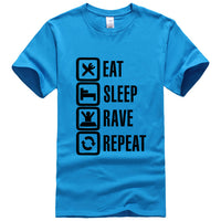2018 Summer Style Eat Sleep Rave Repeat Game T Shirt Men Casual Short Sleeve O-Neck T-shirts Fashion Streetwear Hip Hop Tops Tee