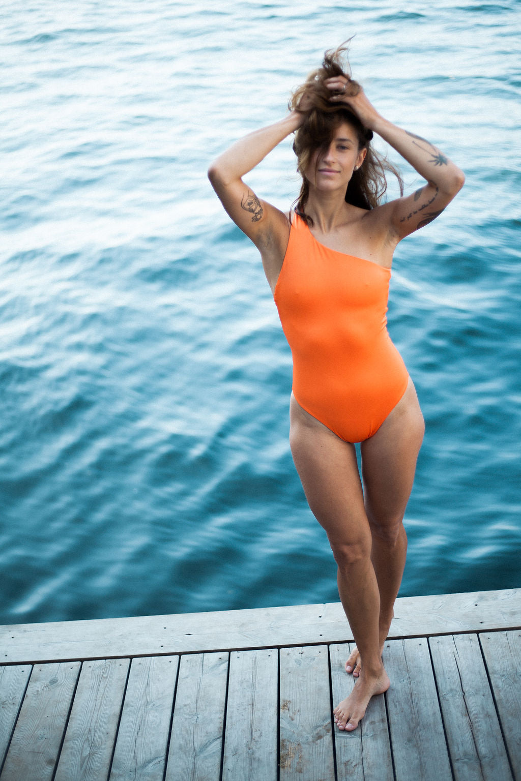 Recycled Swimwear Pacific Orange
