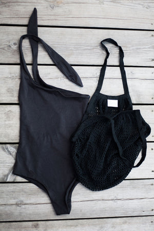 Recycled Swimwear Pacific Black