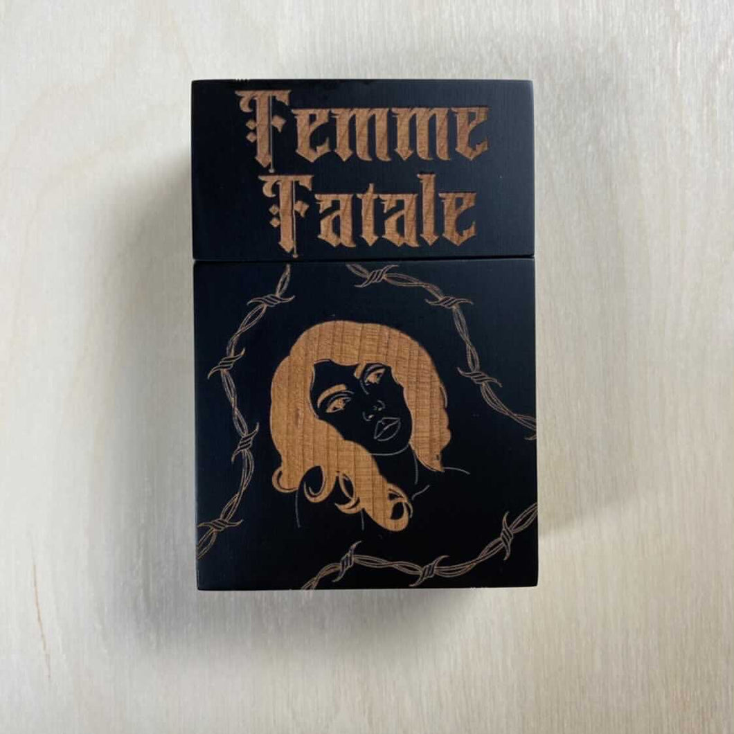 Femme Fatale Smoking Box Black