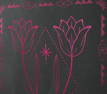 Load image into Gallery viewer, A4 Indigo Forever Tulip Foil print