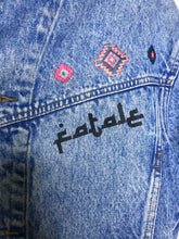 Load image into Gallery viewer, Femme Girl Vintage Denim Jacket