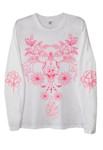 Succulent - Long-Sleeved - Pink N White