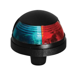 12V Attwood Pulsar 1-Mile Deck Mount Black Housing Red Sidelight