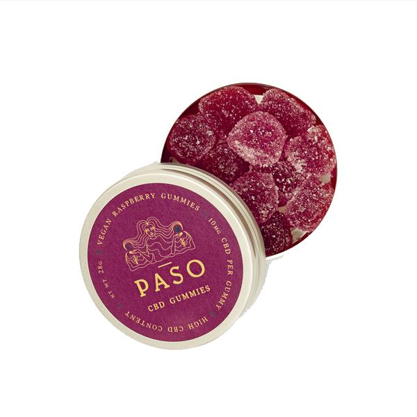 Paso CBD Gummies 120mg CBD - Raspberry