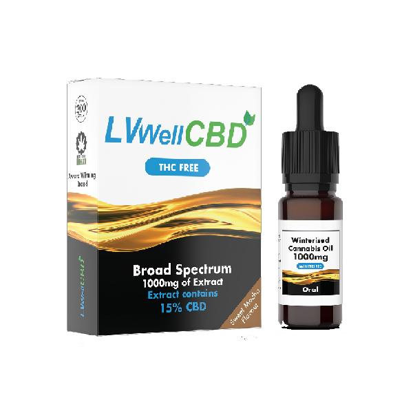 LVWell CBD 1000mg Winterised  10ml Hemp Seed Oil