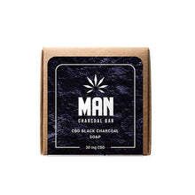 Load image into Gallery viewer, MAN 20mg CBD Charcoal Body Soap 100g