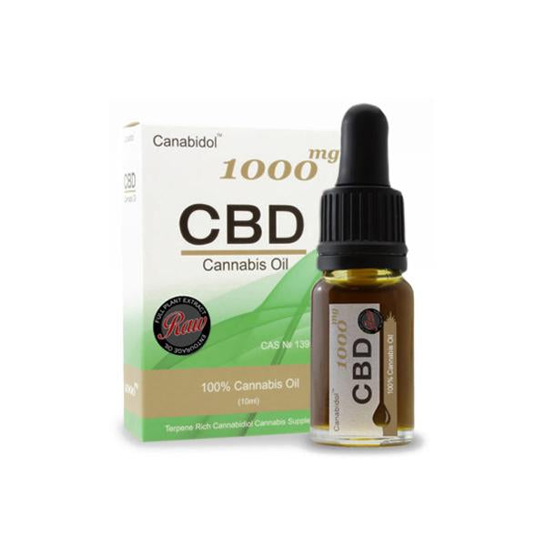 Canabidol 1000mg CBD Raw Cannabis Oil Drops 10ml