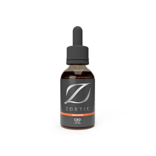 Zoetic 500mg CBD Oil 30ml - Zesty Blood Orange
