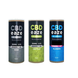 CBD Eaze 250MG CBD 10ml E-Liquid