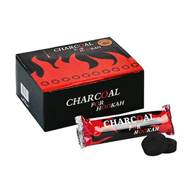 Round Disk Charcoal For Shisha Hookah - (100 Pieces)