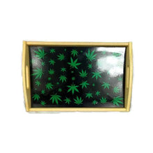 Load image into Gallery viewer, Leaf Design Wooden Rolling Tray