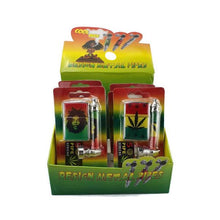 Load image into Gallery viewer, Metal Bob Marley Pipe Set with Lighter & Screens - 8CM - TZ1003W