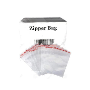 5 x Zipper Branded 50mm x 70mm Clear Bags