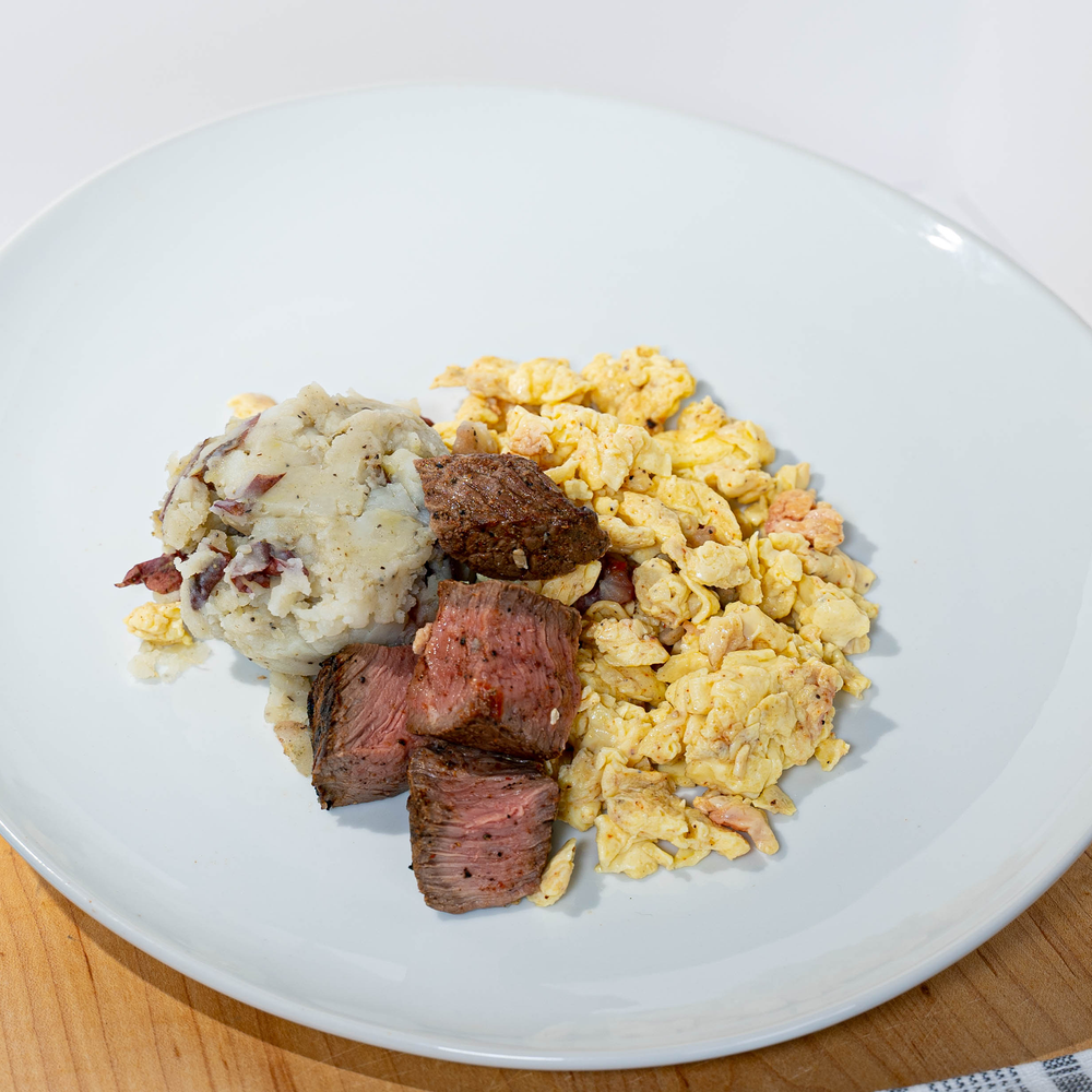 Load image into Gallery viewer, STEAK, EGG & SMASHED POTATO Big Breakfast Platter