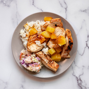 Grilled Chicken Pineapple Rice Bowl