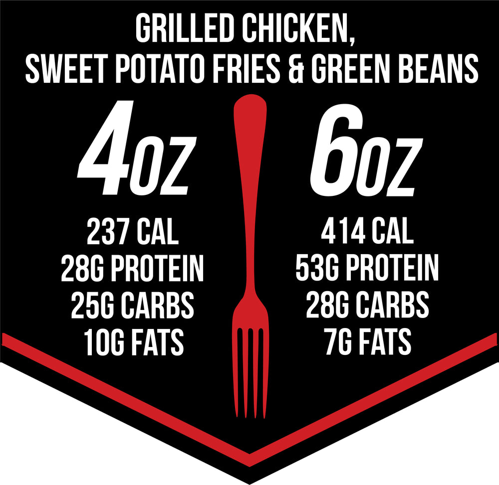Load image into Gallery viewer, Grilled Chicken & Sweet Potato Fries (& Green Beans)