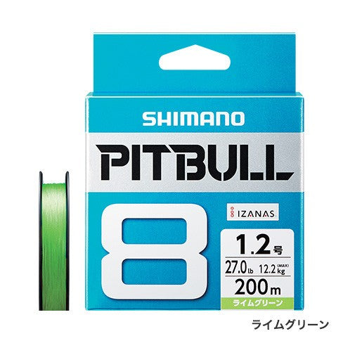 Shimano PITBULL 8 Strand JDM Braid – 150M Lime Green