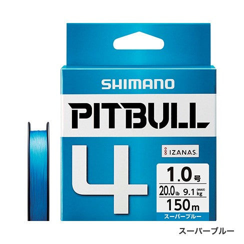 Shimano PITBULL 4 Strand JDM Braid – 150M Blue