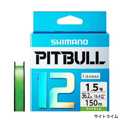 Shimano PITBULL 12 Strand JDM Braid – 150M Lime Green