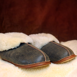 Men's Shearling Sheepskin Fur Slippers