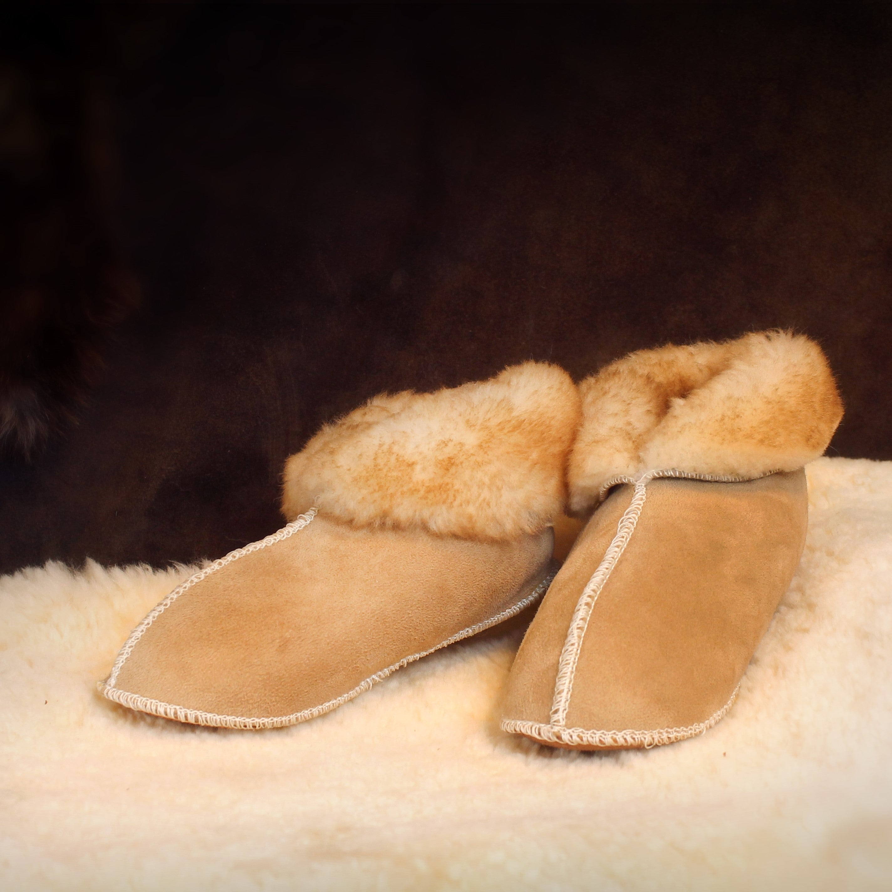 Children's Sheepskin Fur Slippers