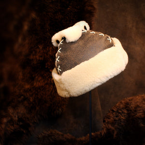Women's Mongolian Shearling Sheepskin Fur Hat