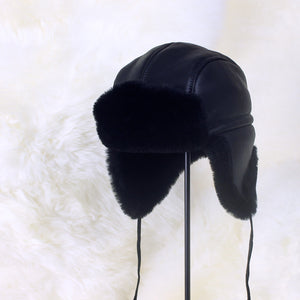 Men's Trooper Sheepskin Fur Hat