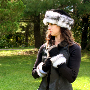 Cuffed Sheepskin Fur Gloves
