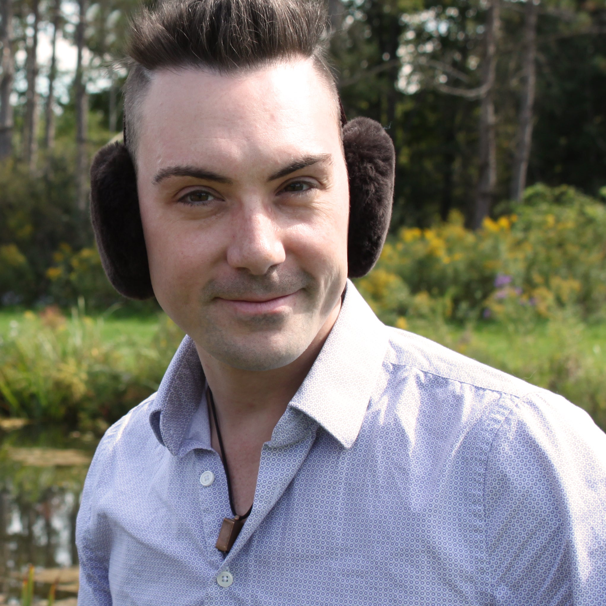 Men's Sheepskin Fur Earmuffs