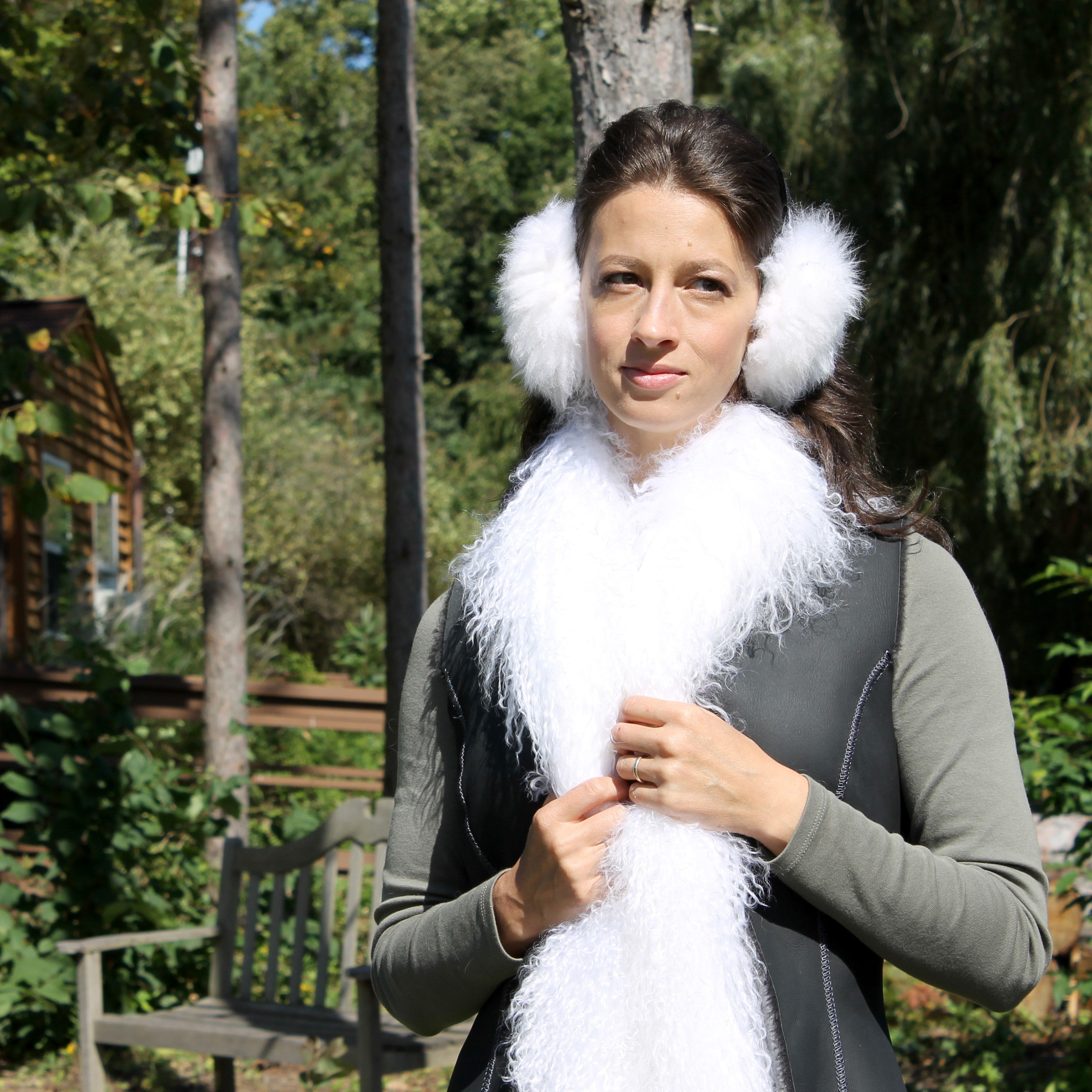 Women's Sheepskin Fur Earmuffs
