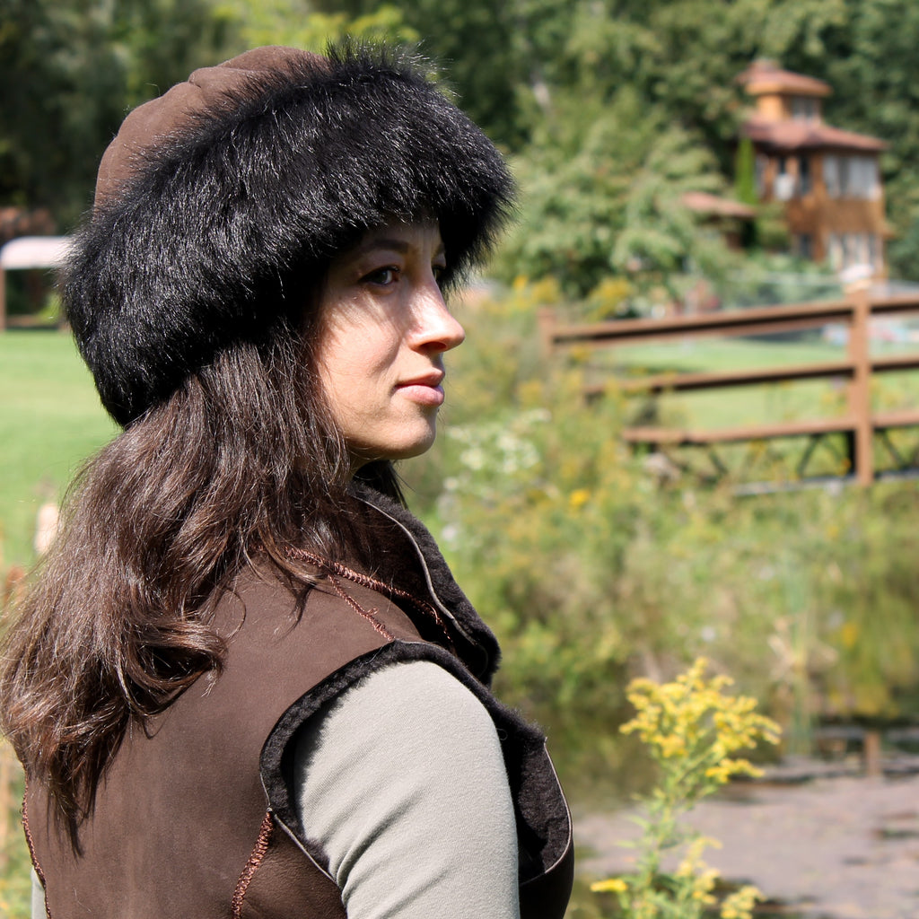 Women's Duchess Toscana Shearling Sheepskin Fur Hat
