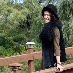 Women's Tulip Shearling Sheepskin Fur Hat