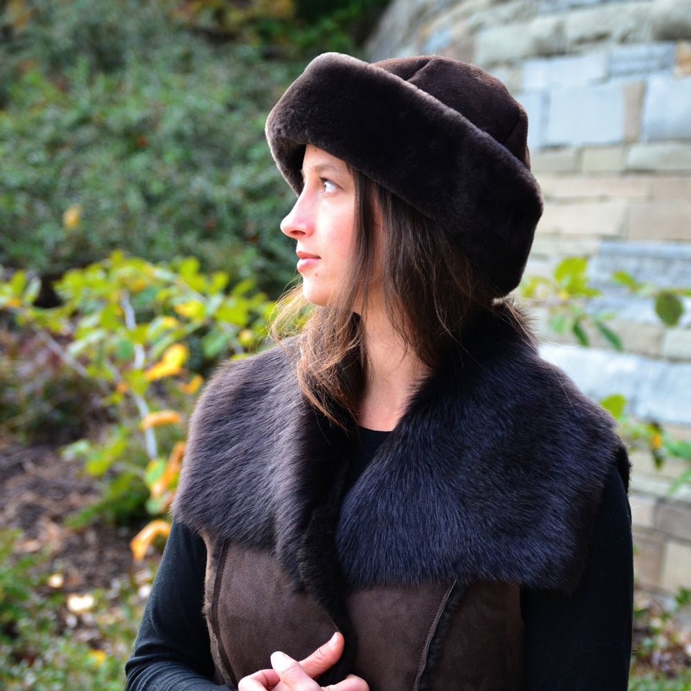 Women's Classic Shearling Sheepskin Fur Hat